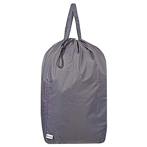 UniLiGis Washable Travel Laundry Bag with Handles and Drawstring, Heavy Duty Large Enough to Hold 3 Loads of Laundry, Fit a Laundry Basket or Clothes Hamper, 27.5x34.5 in,Grey