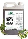 Jabón negro líquido natural elaborado 100% con aceite de oliva y aceite de eucalipto - No reseca...