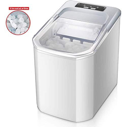 8 minutos para hacer hielo, máquina para hacer hielo en el hogar, máquina para hacer cubitos de hielo de acero inoxidable de 220V, 160W, cocina con encimera para hacer hielo