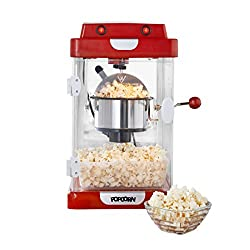 CINEMA STYLE POPCORN MAKER – This jumbo popcorn maker is fashioned in the likeness of a traditional cinema style popcorn machine and lets you make healthy homemade popcorn from the comfort of your own kitchen. HEALTHY POPCORN MAKER – This popcorn mak...