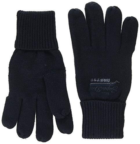 Superdry Herren ORANGE LABEL GLOVE Handschuhe, Blau (Navy Grit KUX), Einheitsgröße