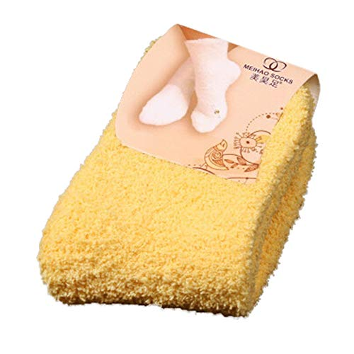 TOTOD Thermal Socks Fuzzy, Women Girls Soft Bed Floor Home Casual Socks Fluffy Warm Winter Multicolor, Free Size