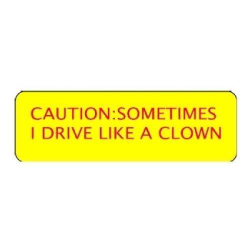 "Larocks ""Caution - I Drive Like A Clown"" Engraved Pins"