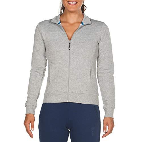 ARENA Damen Sweat Jacke Essential Sweatjacke, medium Grey Melange, M