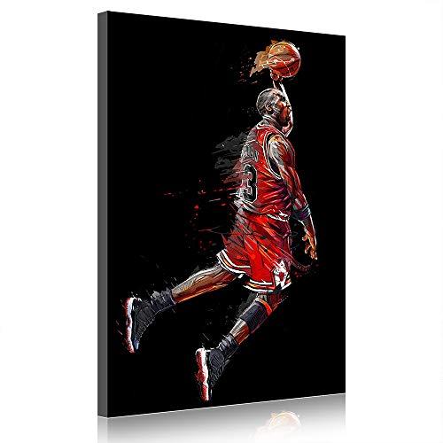 Michael Jordan Poster Leinwanddrucke Basketball Gemälde Home Decor NBA Star Bilder Für Wohnzimmer (prints6,60x90cm)