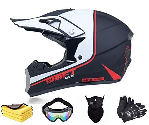 BDUCK Casco de moto infantil para bicicleta o descenso, para niños y jóvenes, para motocross, cross, off road (M)