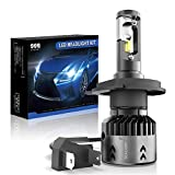 SEALIGHT H4/9003/HB2 Motorcycle LED Headlight Bulb High Low Beam Headlamp with Fan 6000K Cool White