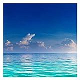 Bilderwelten Fotomural - Turquoise Lagoon - Mural cuadrado papel pintado fotomurales murales pared papel para pared foto 3D mural pared barato decorativo, Dimensión Alto x Ancho: 192cm x 192cm