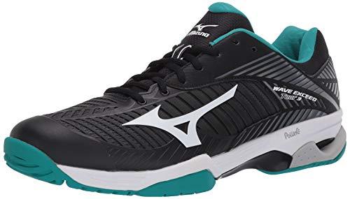 Mizuno Men's Wave Exceed Tour 3 All Court Tennis Shoe, Black/White, 9.5