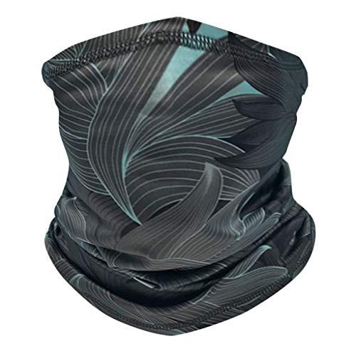 Andouy Face Shields Bedrucktes Multifunktionstuch Damen Herren Elastische Halstuch Nahtlose Schlauchtuch UV Schutz für Yoga Radfahren Motorradfahren(24X40CM.E)