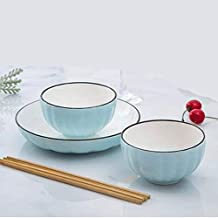 Fmdagoummzislw Salad Bowl, Large-capacity Ceramic Bowl Is Suitable For Most People. Dish Set, Various Styles And Durable N...