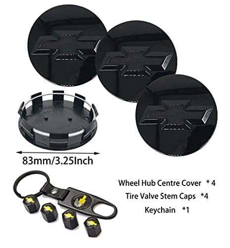 9PCS for 20' 22' Chevrolet/Chevy Surburban Silverado Tahoe Avalanche Wheel Center Caps, 83mm Rim...