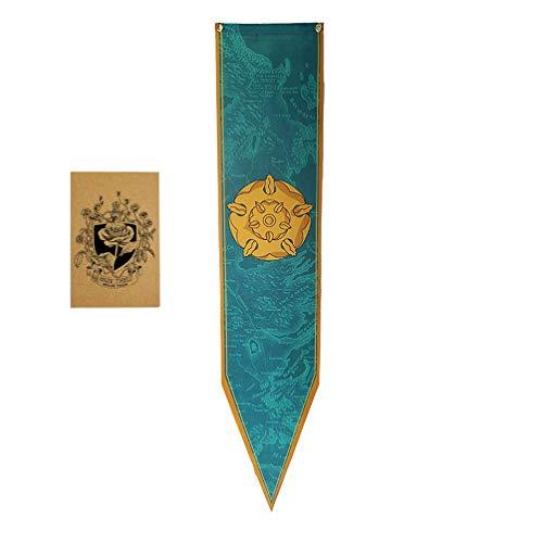 ZCWOLTM Regali di Compleanno per la Figlia, [150X30CM], Game of Thrones Banner e Banner per la Decorazione per Feste