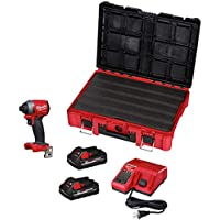Milwaukee 2853-22PO M18 Fuel 1/4 Inch Hex Impact Driver with Packout Kit
