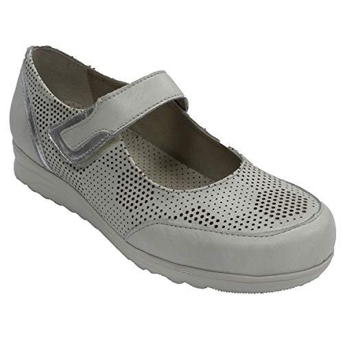 Zapato Mujer Tipo Merceditas Pitillos en Gris