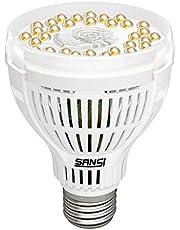 SANSI 15W LED Växtlampa E27 för Inomhusväxter, Fullspektrum Daylight LED Växtglödlampa ör Hydroponisk, Inomhusträdgård, Suckulent veg, Blomma
