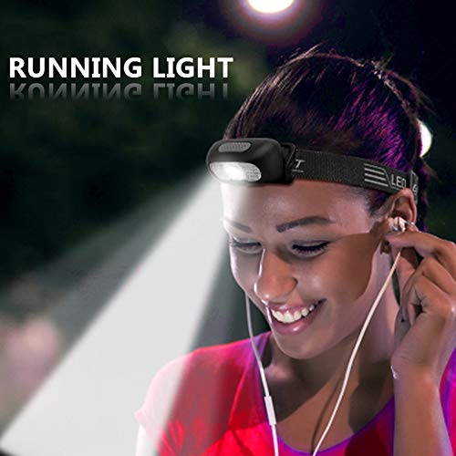 FODFKL Mini Led Headlamp Built in Battery Rechargeable Headlight Head Flashlight Torch Lamp Red & White Color Bicycle Running Light COB