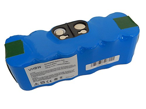 vhbw Batería Ni-Mh 4500mAh (14.4V) compatible con iRobot Roomba 760, 765, 772, 786p aspiradoras, robot aspirador reemplaza 11702, GD-Roomba-500.