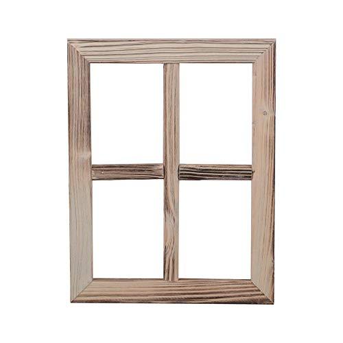Nature by Kolibri Deko Fenster aus Holz, Fensterrahmen im Vintage Design, Bilderrahmen rechteckig 35 x 27 x 1,5 cm