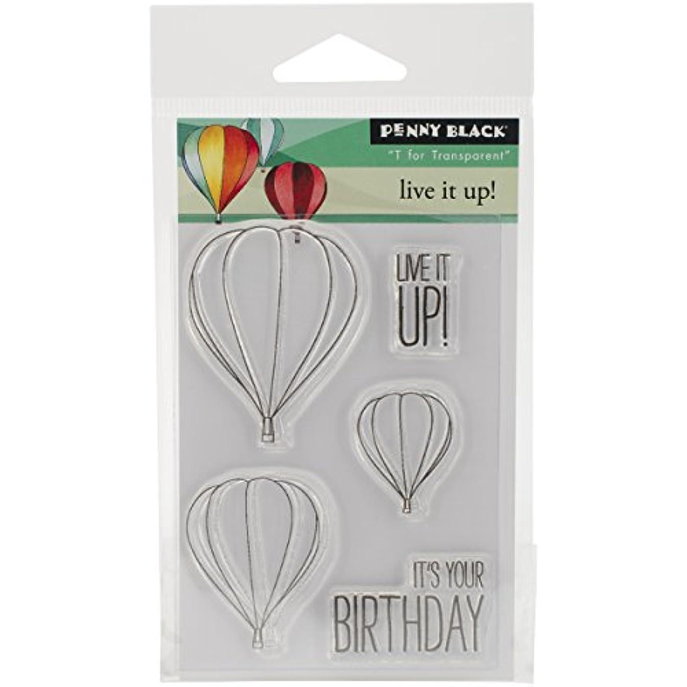 Penny Black 30-289 Live It Up Transparent Stamp Set