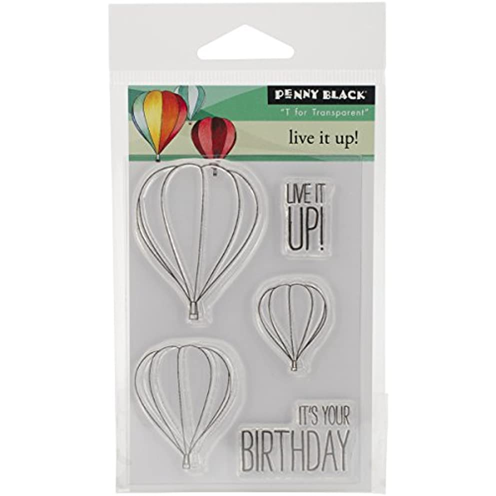 Penny Black 30-289 Live It Up Transparent Stamp Set