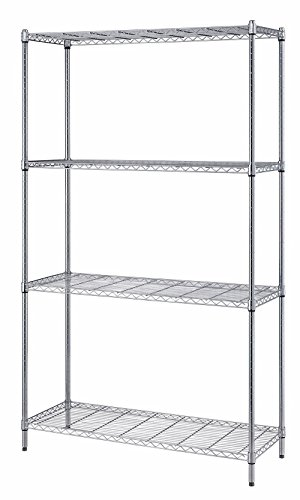 Quantum Storage 4-Shelf Adjustable Wire Shelving Unit, 300 lb. Load Capacity per Shelf, 72 H x 30 W...