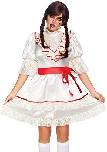 Leg Avenue Women's Haunted Doll Costume Off White