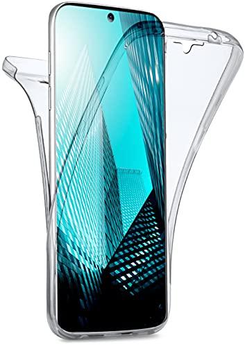 moex Double Hülle für Samsung Galaxy S10 Lite Hülle Silikon Transparent, 360 Grad Full Body R&um-Schutz, Komplett Schutzhülle beidseitig, Handyhülle vorne & hinten - Klar