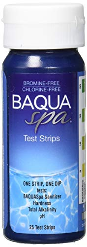 Price comparison product image Baqua Spa 88854 Test Strips 4-Way Chlorine and Bromine-Free Spa and Hot Tub Tester,  25 ct