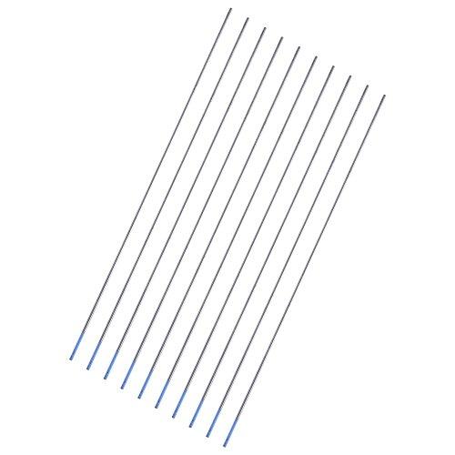 Electrodos lantanados electrodos de tungsteno 10 piezas electrodos de soldadura multifuncionales ecológicos para la industria(1.0 * 150mm)