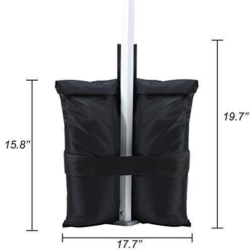 ABCCANOPY Weight Bags Tent Instant Shelters Gazebo Sand Bags 4Pcs, 40lb Capacity per Bag