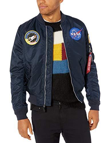 Alpha Industries Men's L-2B NASA Flight Jacket, Replica Blue, 2XL