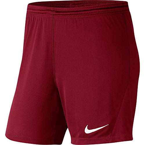 NIKE Dri-Fit Park III Short, Mujer, Team Red/White, XS