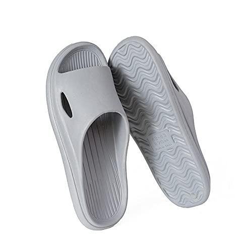 Ducha Zapatillas Antideslizantes,Zapatillas de baño cómodas y de Moda,Zapatillas de casa Suaves EVA-Gray_42-43,Unisex Adulto Zapatillas de baño
