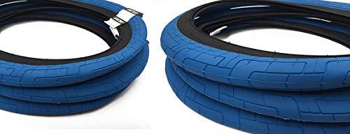 Colony Griplock BMX - Neumático para Bicicleta (50,8 cm), Color Azul y Negro