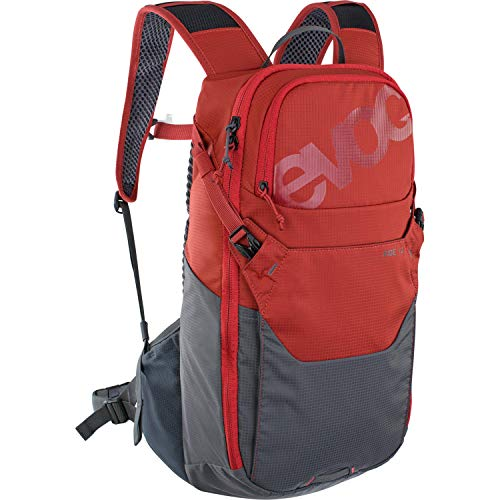 Evoc Ride 12 Unisex Adults' Rucksack for Mountain Bikes without Protection Red/Grey