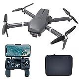 le-idea IDEA31 Drone GPS Pieghevole Professionale con Telecamera 4k HD, Quadcopter RC 5GHz con Motore senza spazzole, Posizionamento del Flusso Ottico, Modalità senza Testa per Adulti/Principianti