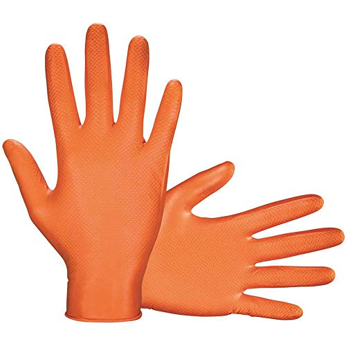 SAS 66574 X-Large Astro-Grip Powder-Free 7mil Nitrile Disposable Gloves