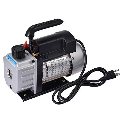 Lacyie 4CFM Bomba de vacío de Baja presión 60Hz Coche Eléctrico 1/4HP Aire Bomba de Vacío Sistemas de Refrigeración Aire Acondicionad(Negro)