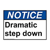 Notice Dramatic Step Down ANSI Safety Industrial Notices Metal Tin Sign Aluminum Sign