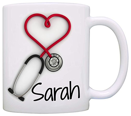 Personalized!! Stethoscope Coffee Mug, a Funny and Unique Gift for Nurses and Doctors, Printed on...