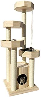 Cat Trees Solid Wood Cat Tower Cat Climbing Cat Jumping Platform with Cat Litter One Sisal Rope Cat Claws Fun Cat Furniture Play Area Activity Trees