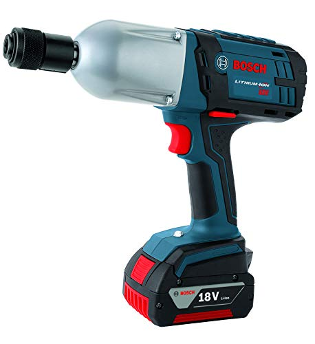 Bosch HTH182-01 18-Volt Lithium-Ion 7/16-Inch Hex High Torque Impact Wrench Kit with 2 Batteries, Charger and Case