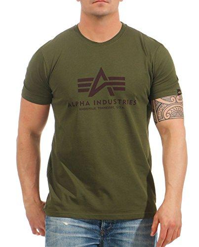Alpha Industries Basic T-Shirt Militärgrün M