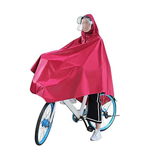 MJ-Brand Poncho da Pioggia per Bicicletta Impermeabile da Pioggia Poncho da Ciclismo con Cappello e Visiera Trasparenti Impermeabile Multiuso per Esterno Riutilizzabile con Cappuccio e Maniche