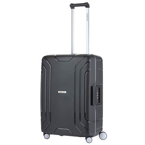 CarryOn Steward TSA Reiskoffer - Trolley 65cm met kliksloten - Dubbele wielen en luxe interieur - Zwart