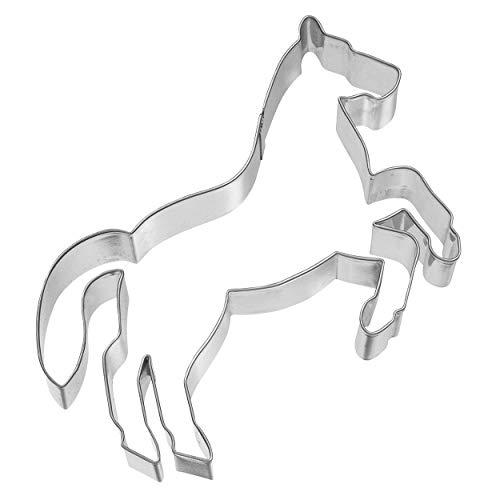 Birkmann 1010717910 Ausstechform Pferd steigend, 13,7 cm, Kunststoff, Grau, 5 x 3 x 2 cm