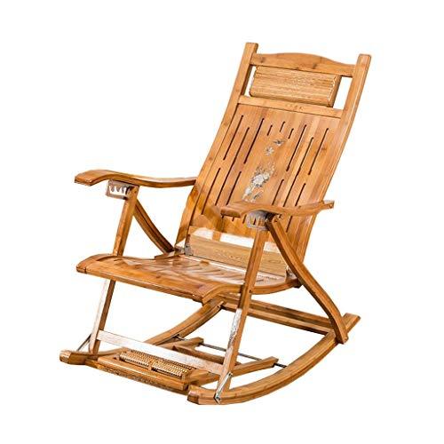 Opvouwbare Deck stoel ligstoel Bamboe stoel Tuin Patio Zonnebank Slaapkamer Woonkamer Kantoorstoel Zwangere Vrouw Ligstoel