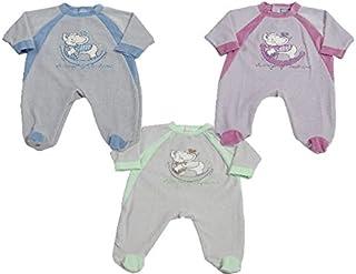 9c19d8cd16016 KING BEAR Pyjama en velours avec une jolie broderie SWINGING ELEPHANT De  tendres couleurs, joliment