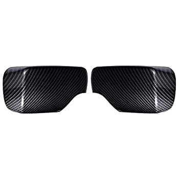 1 Pair Carbon Fiber Rearview Side Mirror Cover Cap Exterior Door Wing For E46 3 Series Sedan Touring Hatchback Compact  1998-2005